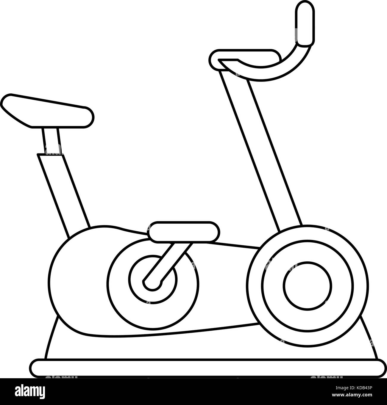 spinning bike fitness or sport related icon image KDB43P stationary bike black and white stock photos & images alamy