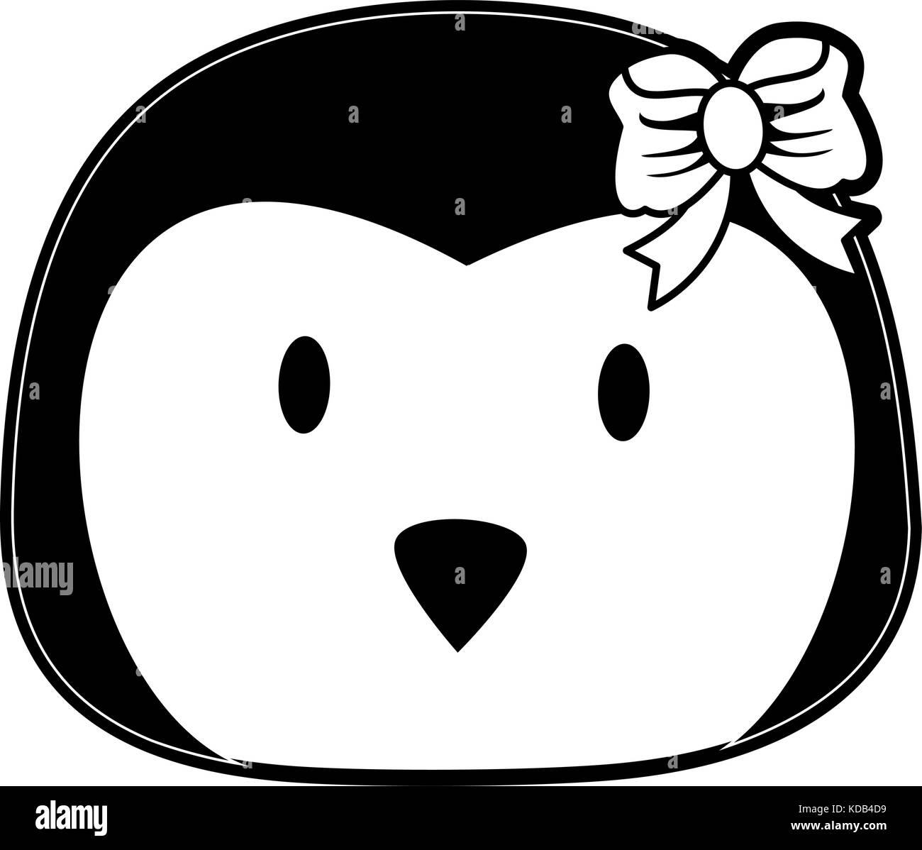 penguin cute animal cartoon icon image  - Stock Image