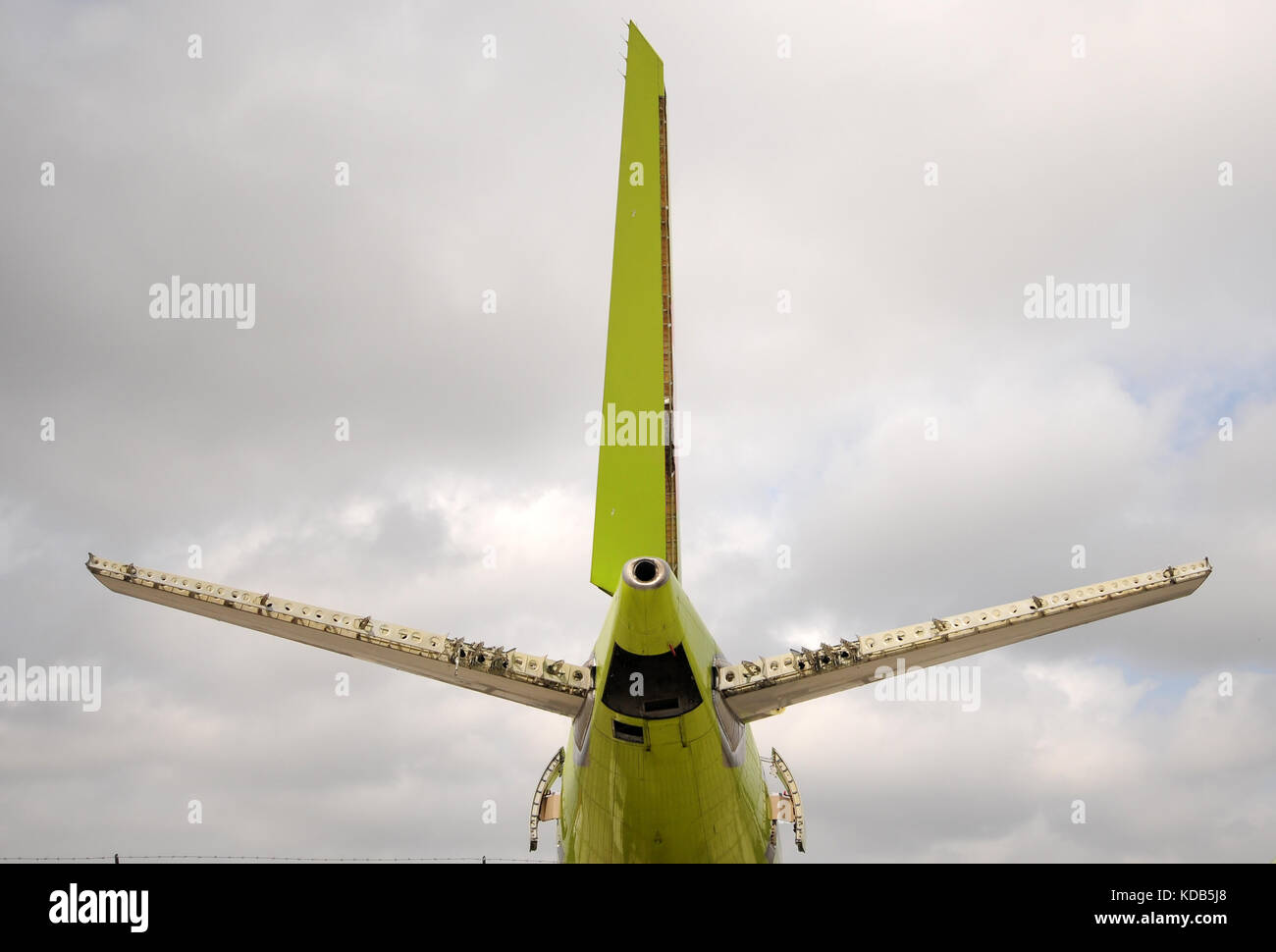 Old Airplane Parts Stock Photos Images Jet Scrapped For Spare Image