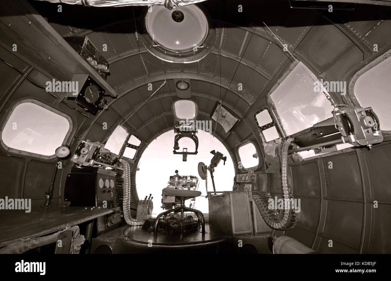 Nose Gunner Positions Inside World War II Bomber
