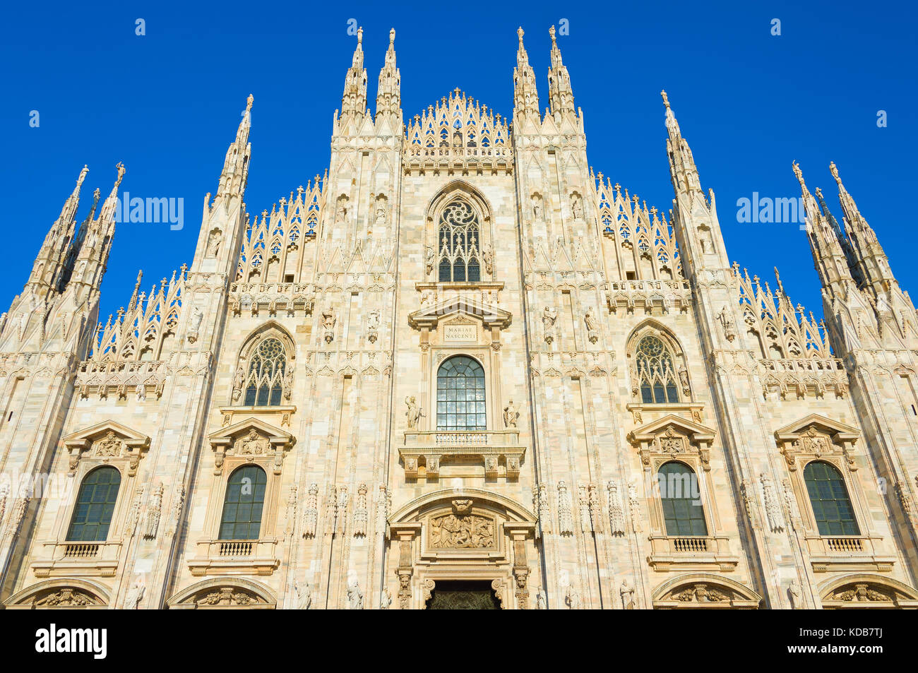 Famous Milan Cathedral (Duomo Milano). Italy - Stock Image