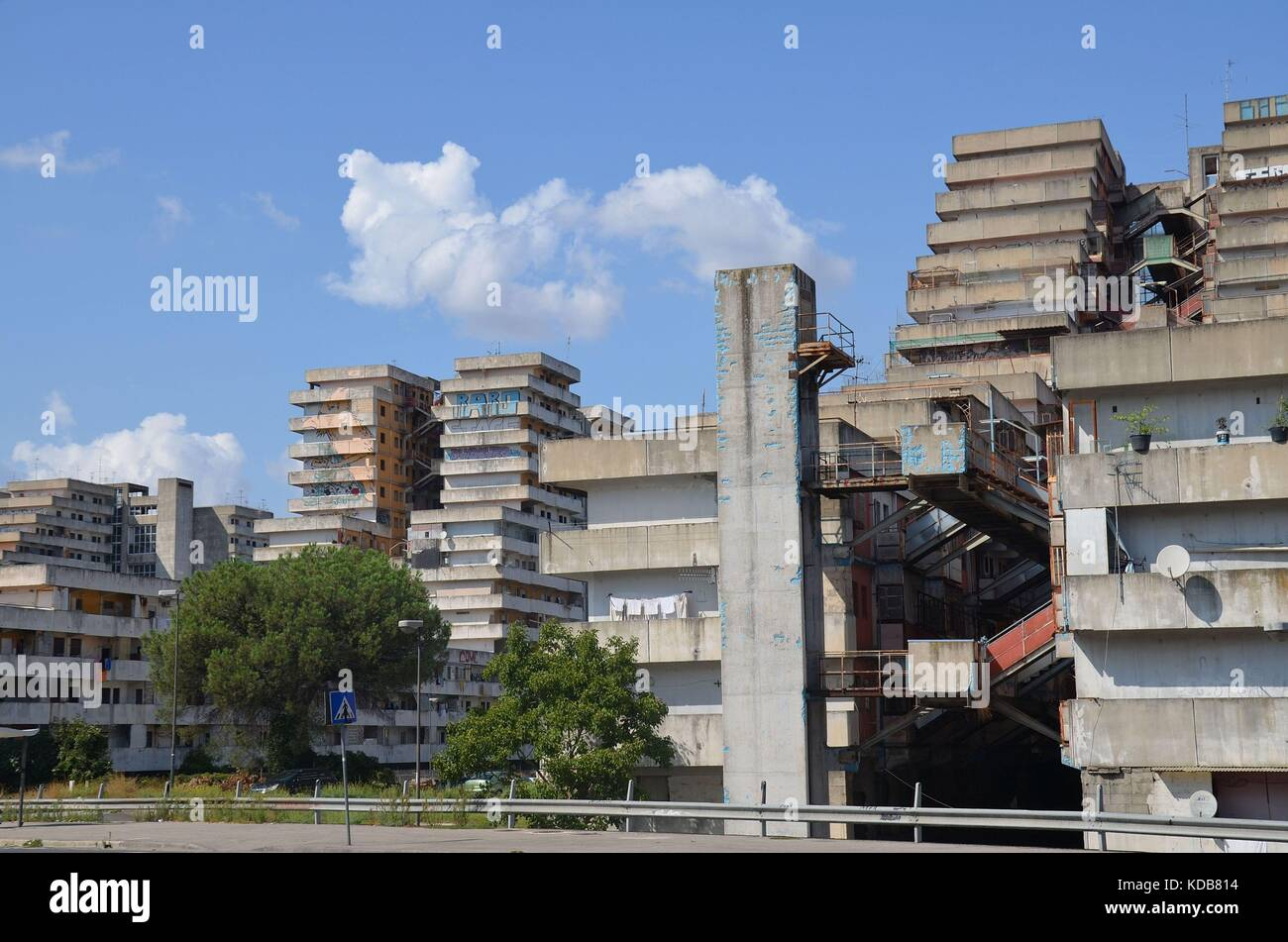 The Vele ('Sails') of Scampia in the Northern periphery of Naples. - Stock Image