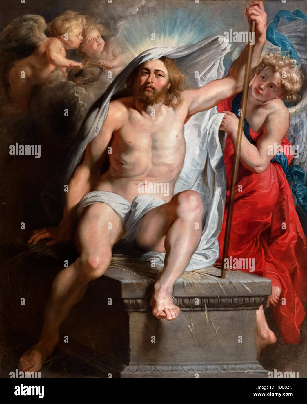 Christ Resurrected by Peter Paul Rubens (1577-1640), oil on canvas, c.1615-1616 - Stock Image