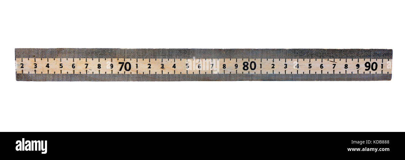 Section of meter stick - Stock Image