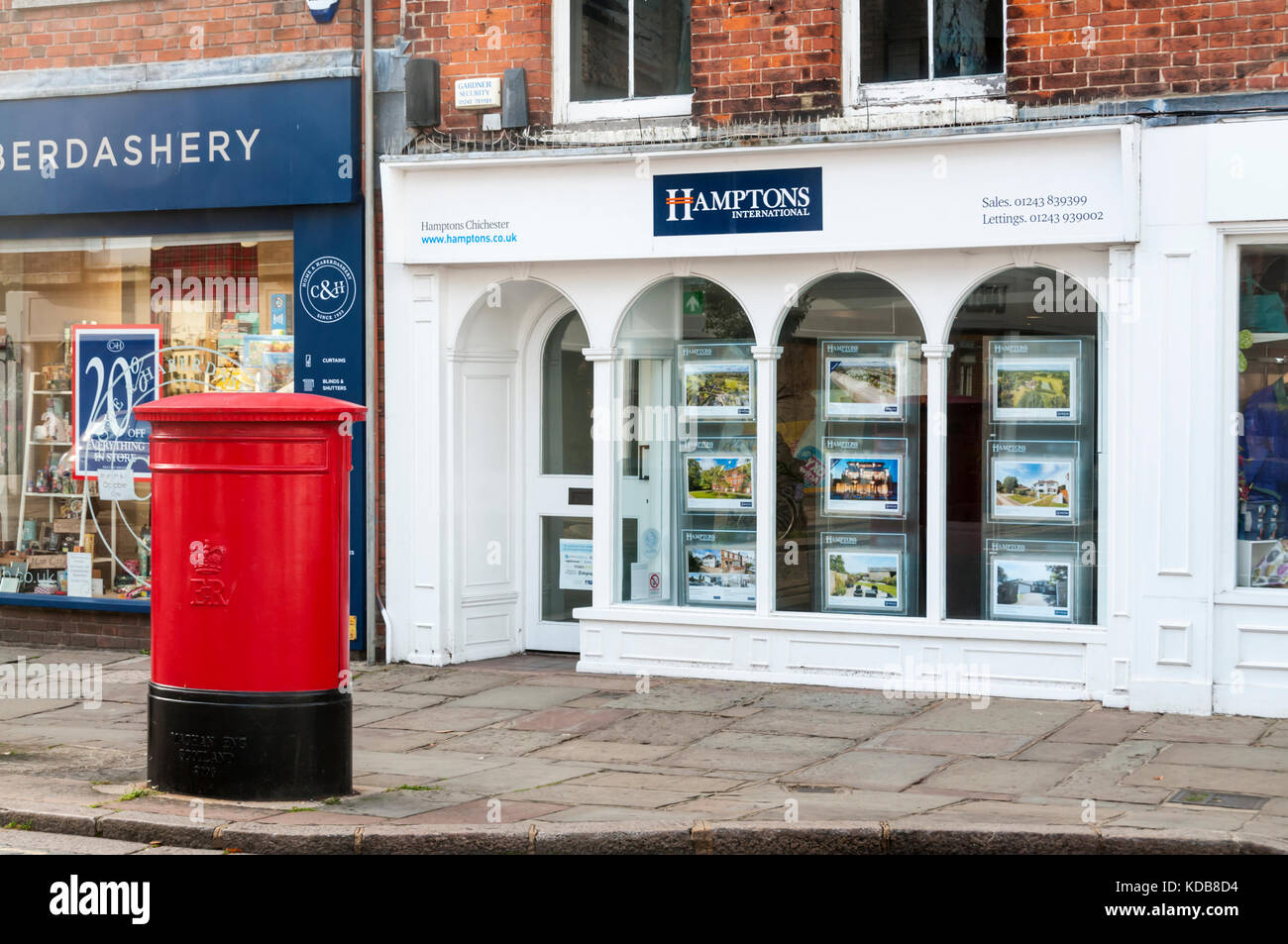 A branch of Hamptons International residential estate agents in Chichester. - Stock Image