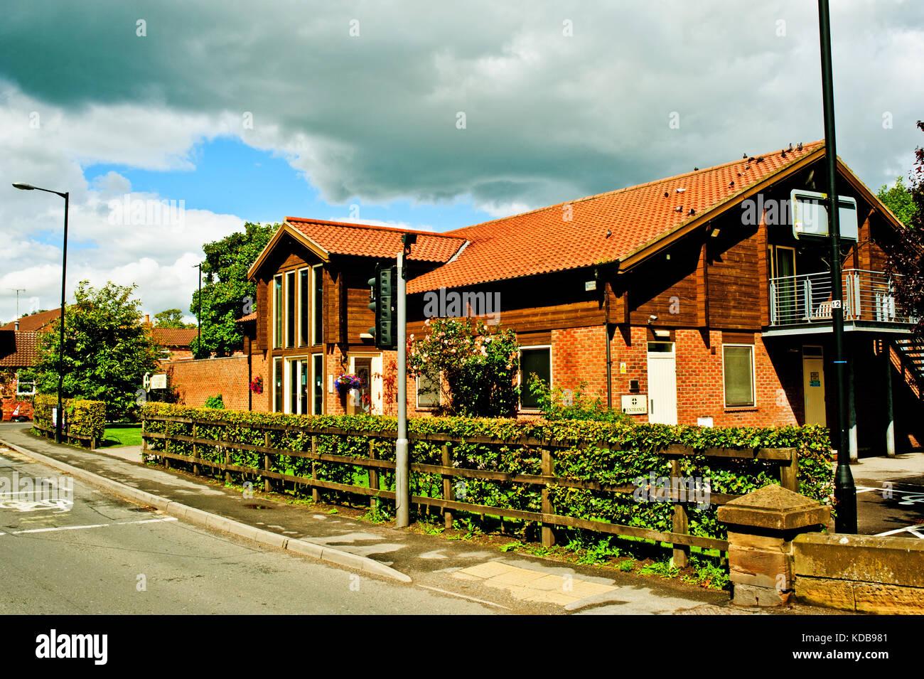 Vetinary Practice, Stamford Bridge, North Yorkshire - Stock Image