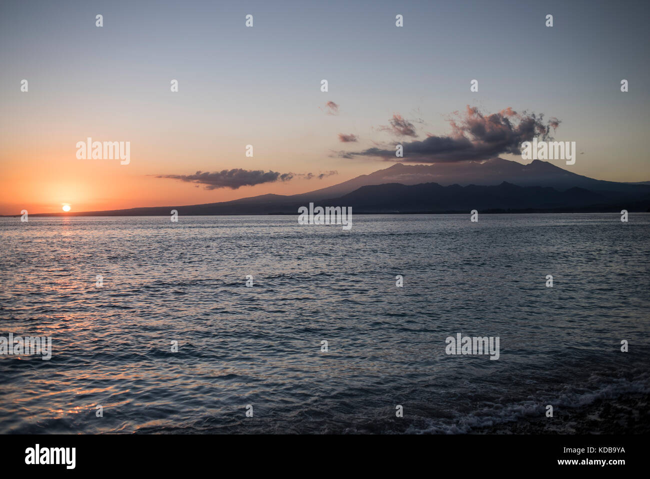 Sunrise in Gili Air, Gili Islands, Indonesia. - Stock Image