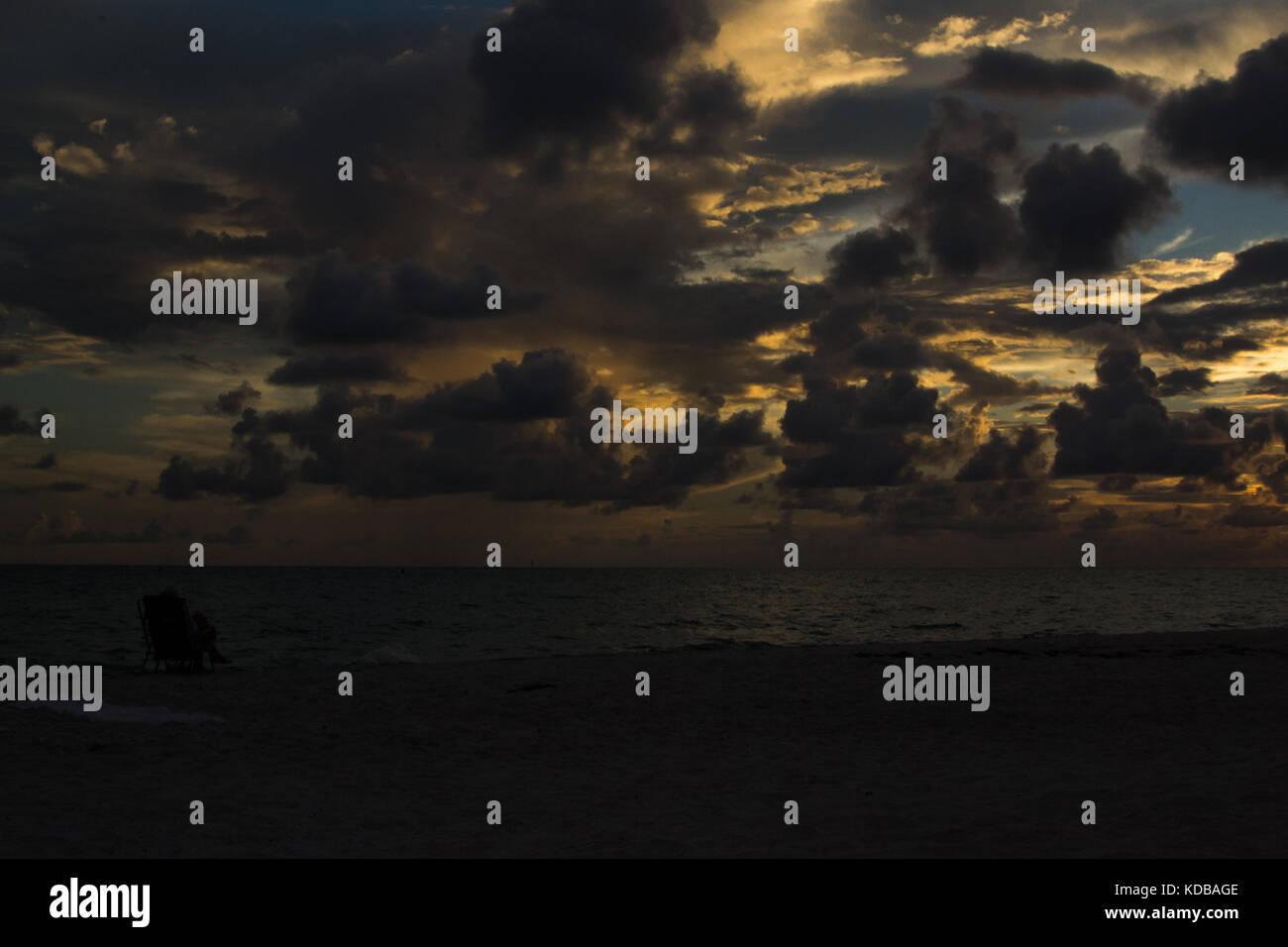 Sunset at Siesta Key, Florida. - Stock Image