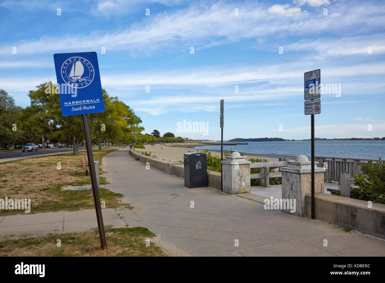 Harborwalk, Carson Beach, Old Harbour Reservation, South Boston, Massachusetts, USA - Stock Image