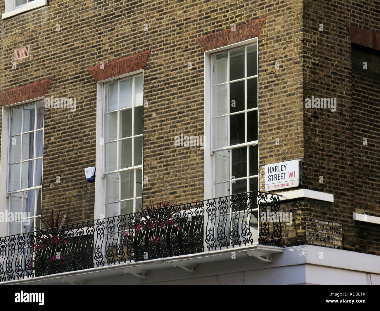 Harley Street sign, London - Stock Image