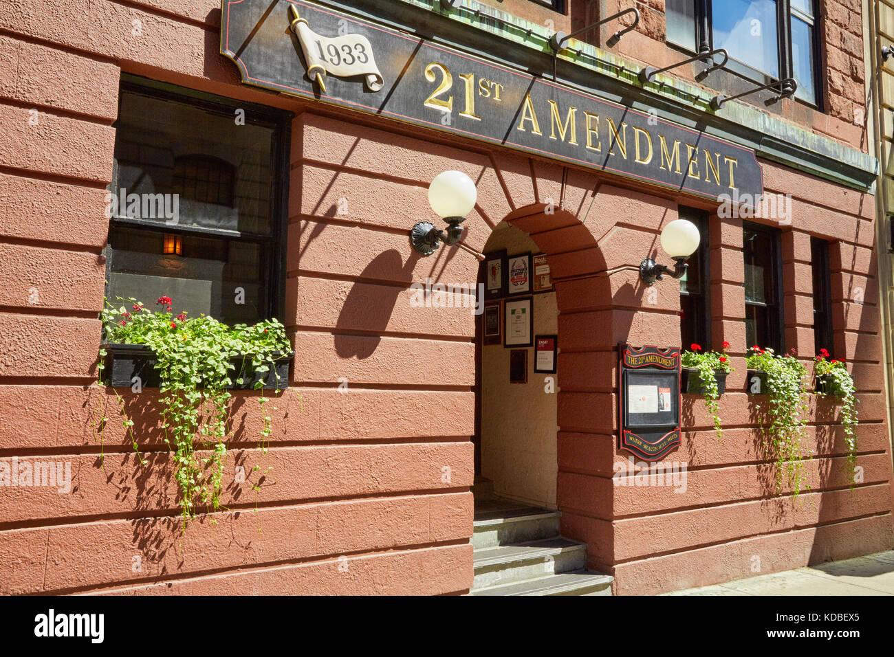 21st Amendment Restaurant, Bowdoin Street, Boston, Massachusetts, USA - Stock Image