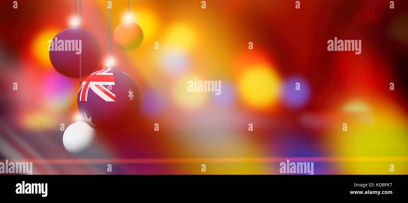 Christmas In Australia Background.Australia Flag On Xmas Ball Christmas Background Corner