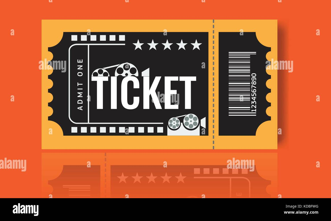 Cinema ticket sample template design. Trendy Vector Stock Vector Art ...