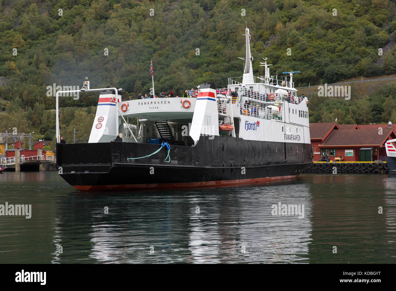 The Fanaraaken, a passenger and RoRo ferry of the Fjord1
