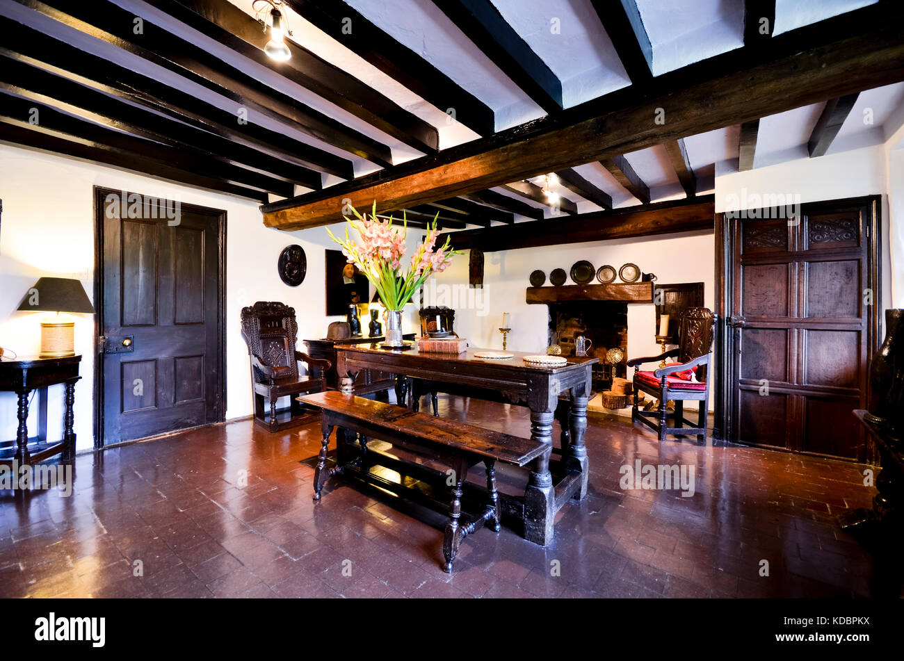 Antique furniture in period property - Stock Image