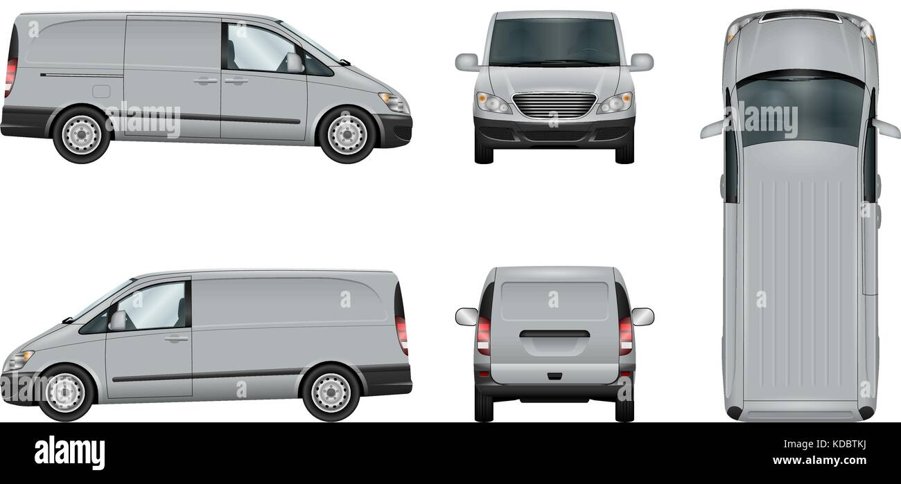 a81f2b55cabe Van vector template. Isolated delivery car on white. The ability to easily  change the color. View from side