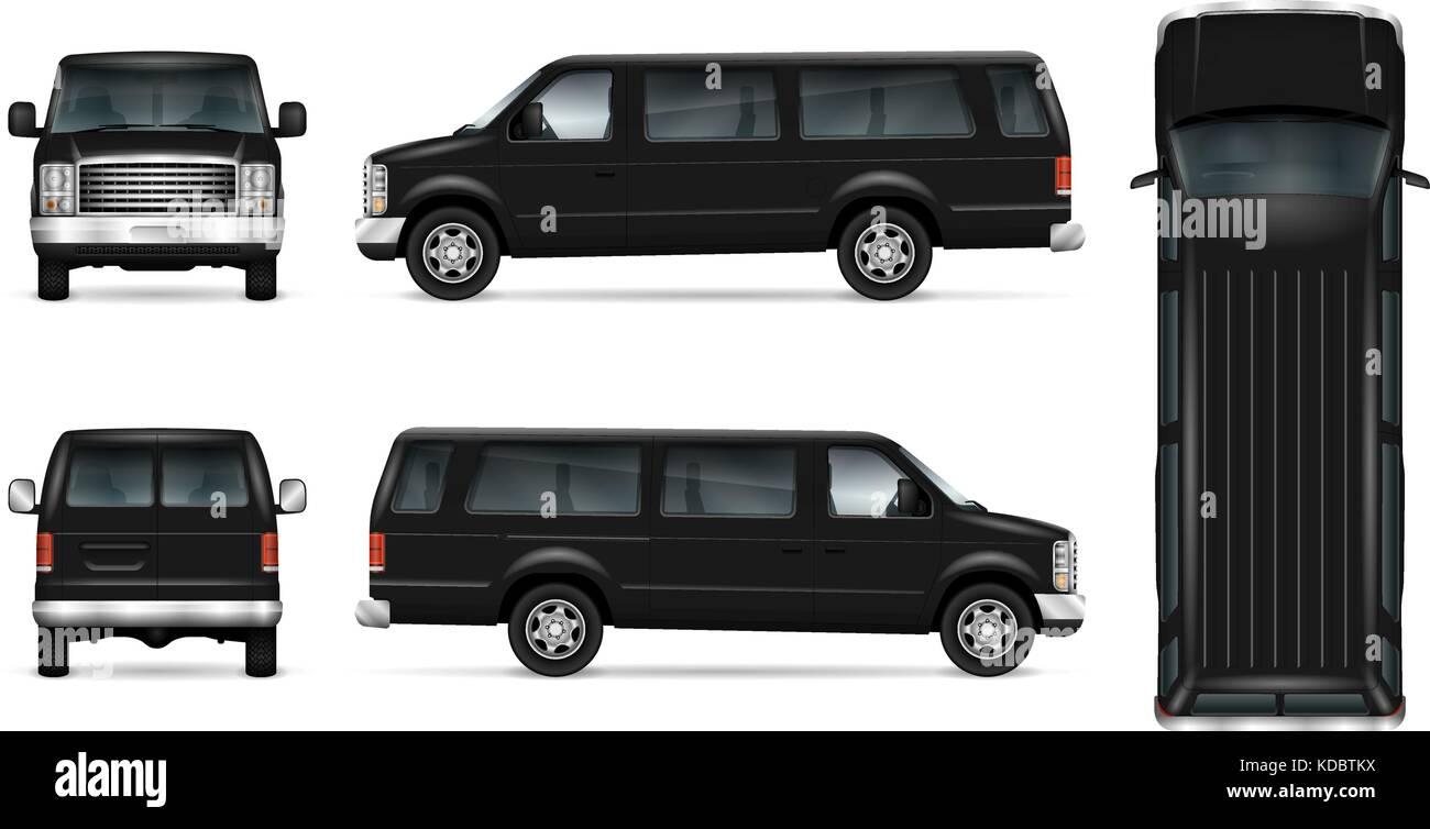 all black van