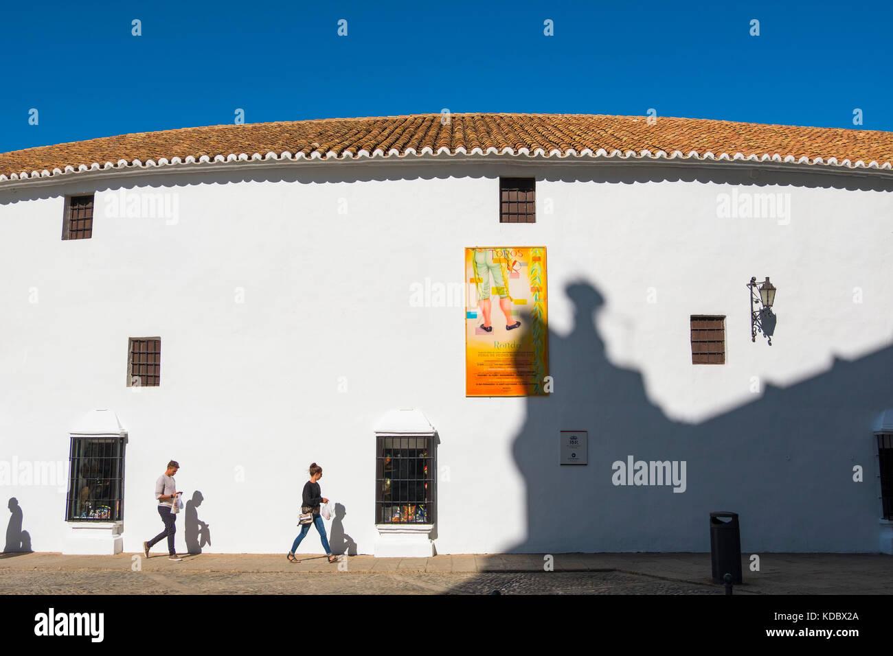 Real Maestranza de Caballeria, Plaza de Toros. Bullring Ronda. Málaga province Costa del Sol, Andalusia. Southern - Stock Image