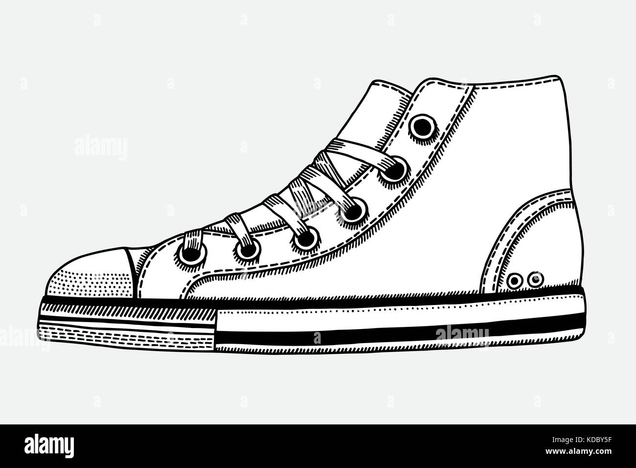 3fd7a1134df7a4 Converse Shoes Stock Vector Images - Alamy