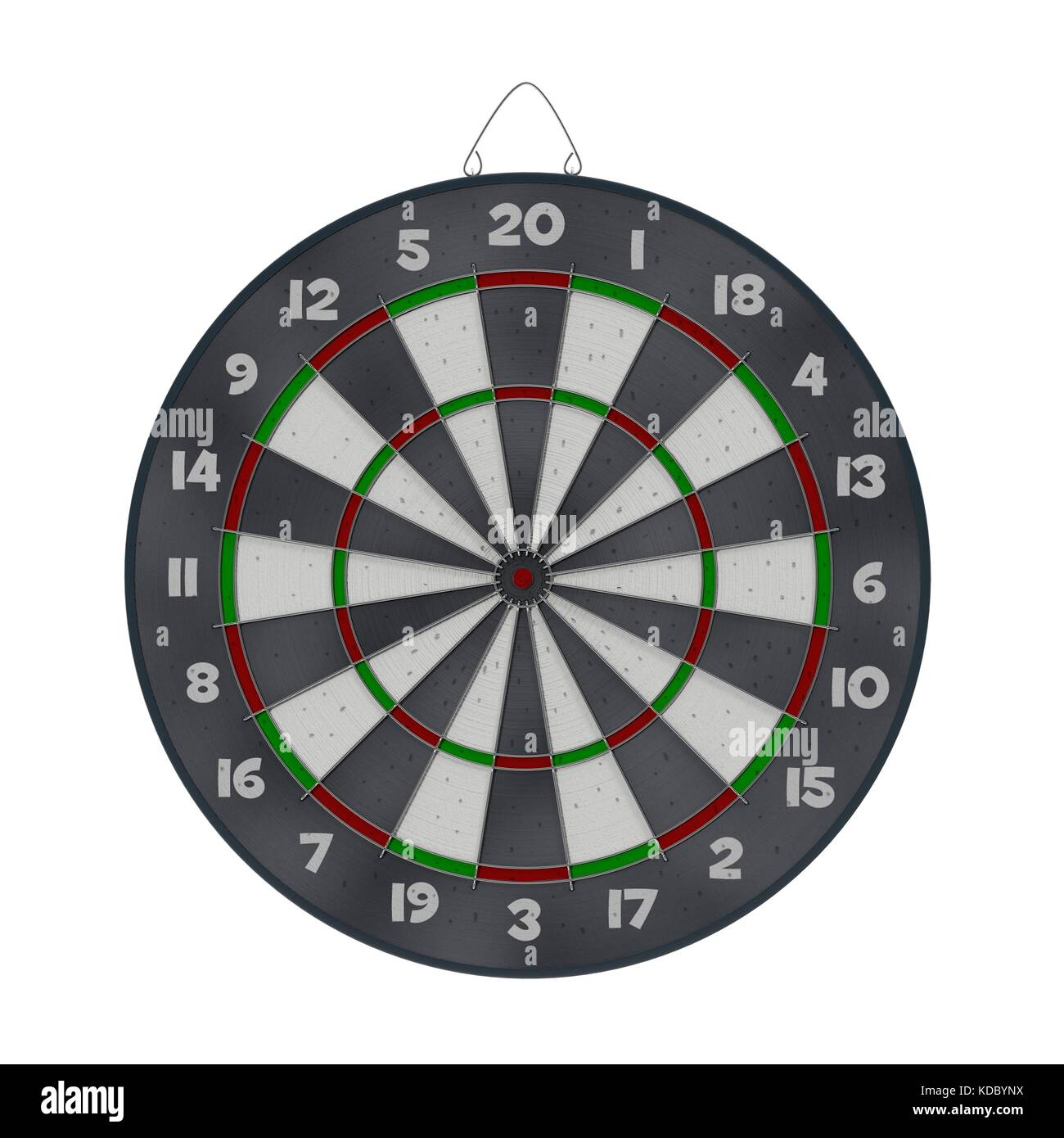 Old target dartboard isolate on white. - Stock Image