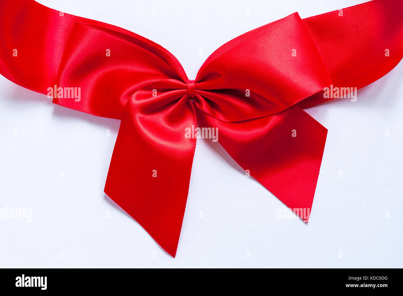 red bow set on white background - Stock Image