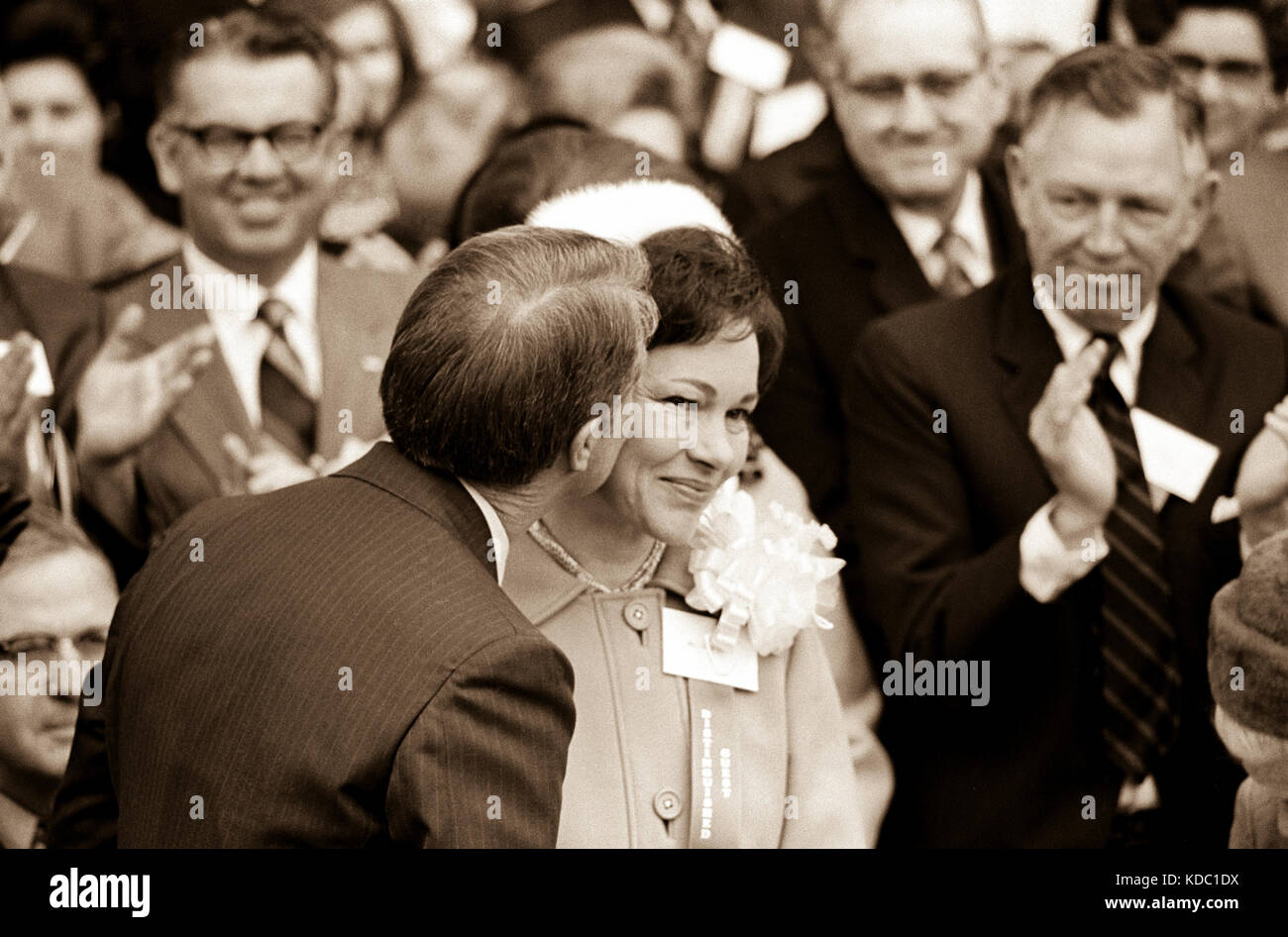 Georgia state senator and governor elect Jimmy Carter at his 1971 gubernatorial inauguration. Carter succeeded segregationist - Stock Image