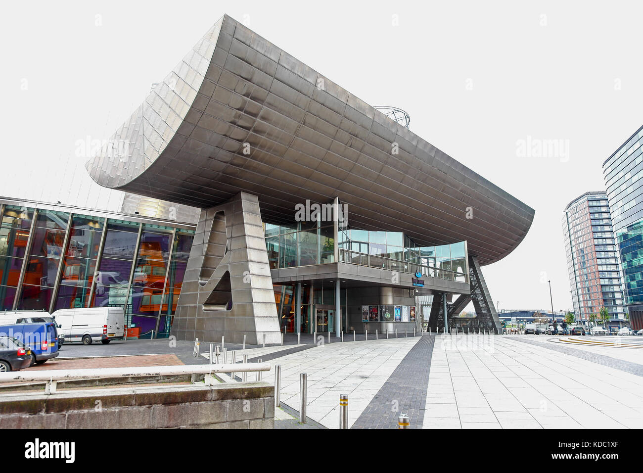 The Lowry Outlet Centre at Media City UK on the banks of the Manchester Ship Canal in Salford and Trafford, Greater Stock Photo