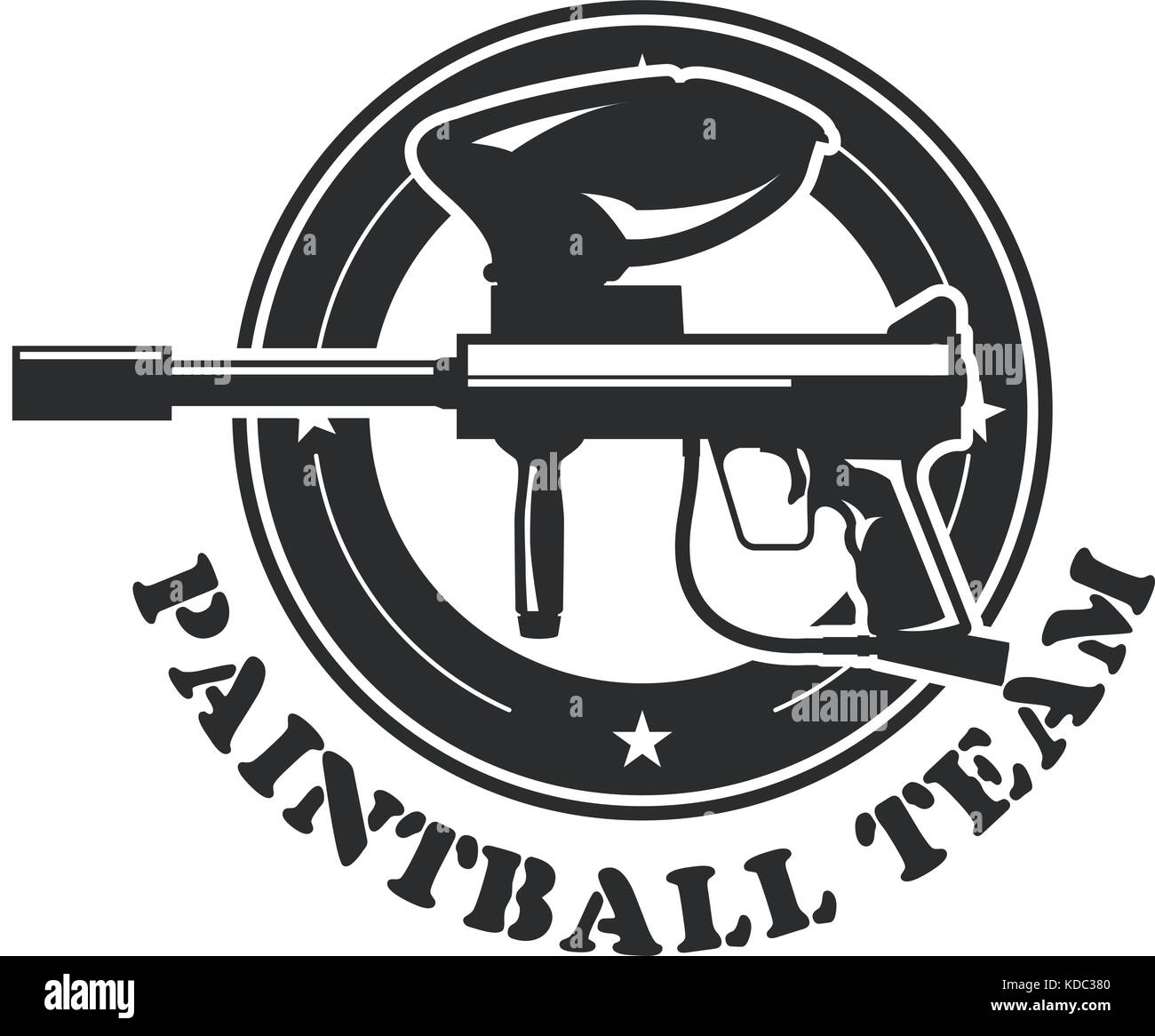 Paintball Gun Stock Vector Images Alamy