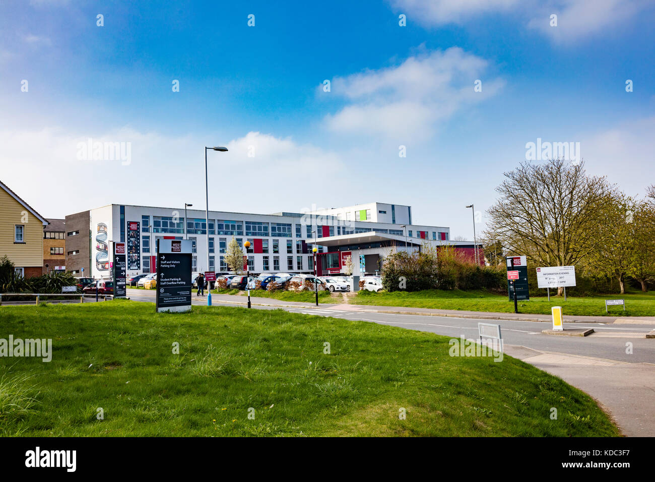 West Kent College, the main campus in Tonbridge, Kent, UK - Stock Image