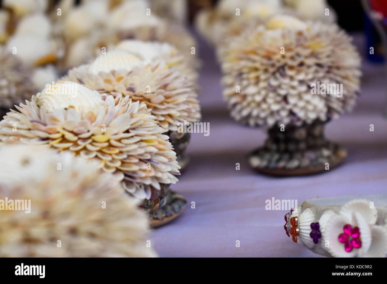 Beautiful handmade showpieces , Great background Image. - Stock Image