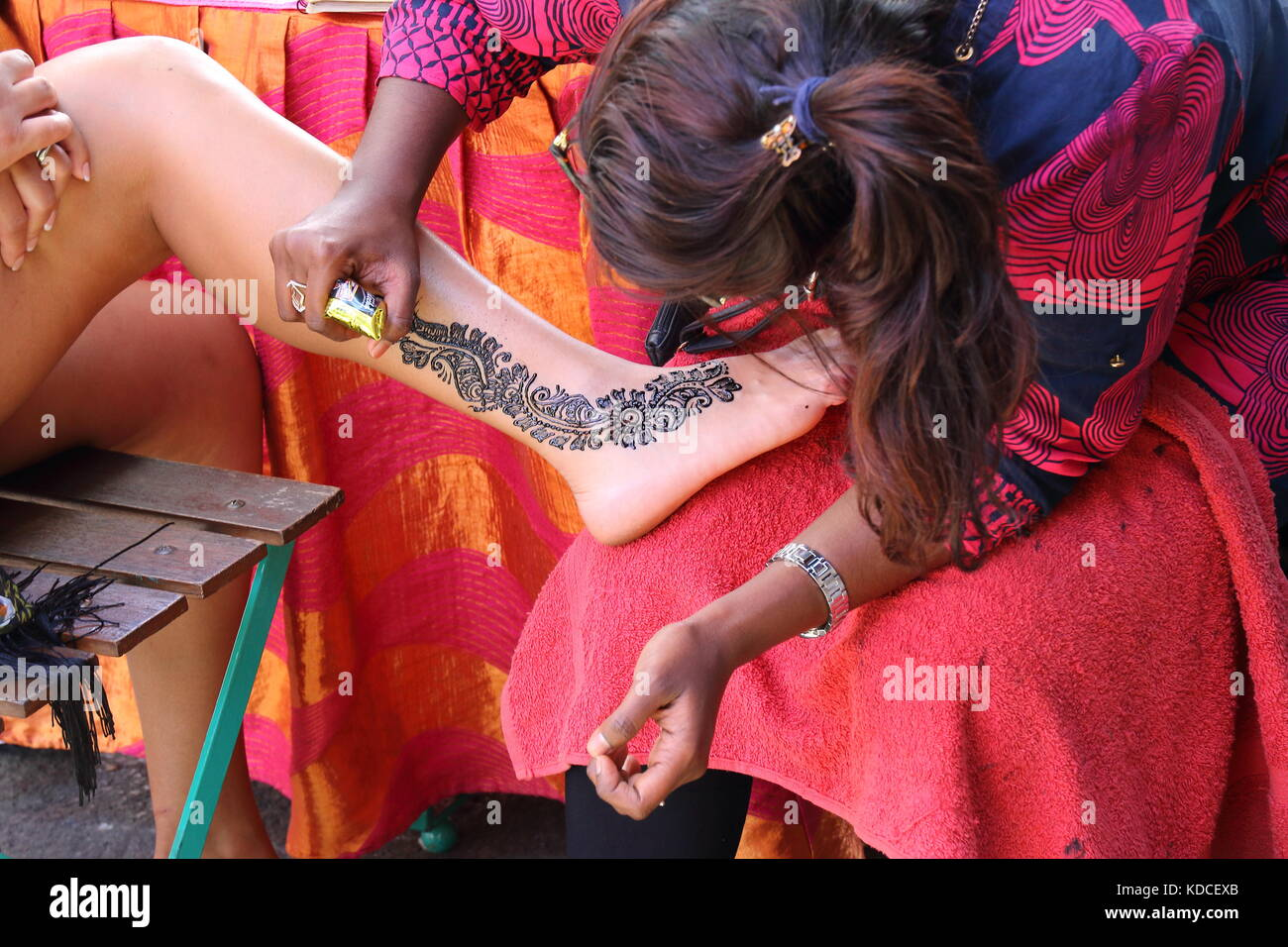 Body Art Mehndi High Resolution Stock Photography And Images Alamy