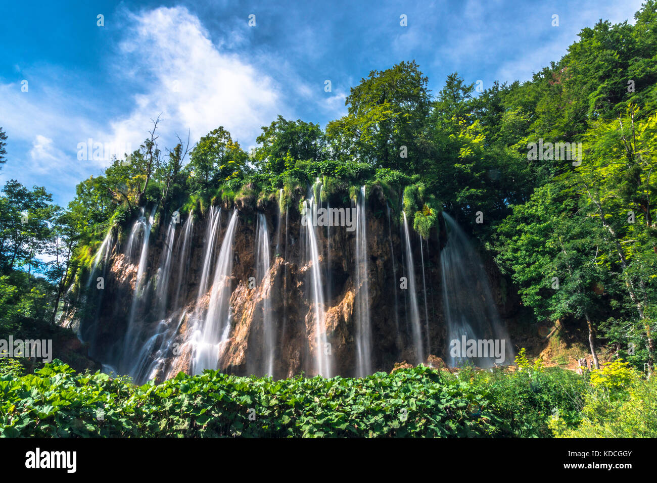 Plitvice lakes, National park, Croatia - Stock Image