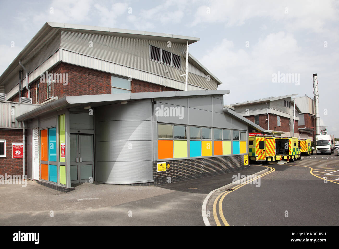 Exterior of the new Accident and Emergency Department at