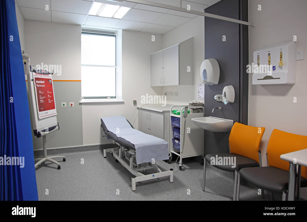 Treatment room in a new Paediatric unit in an East London hospital, UK - Stock Image