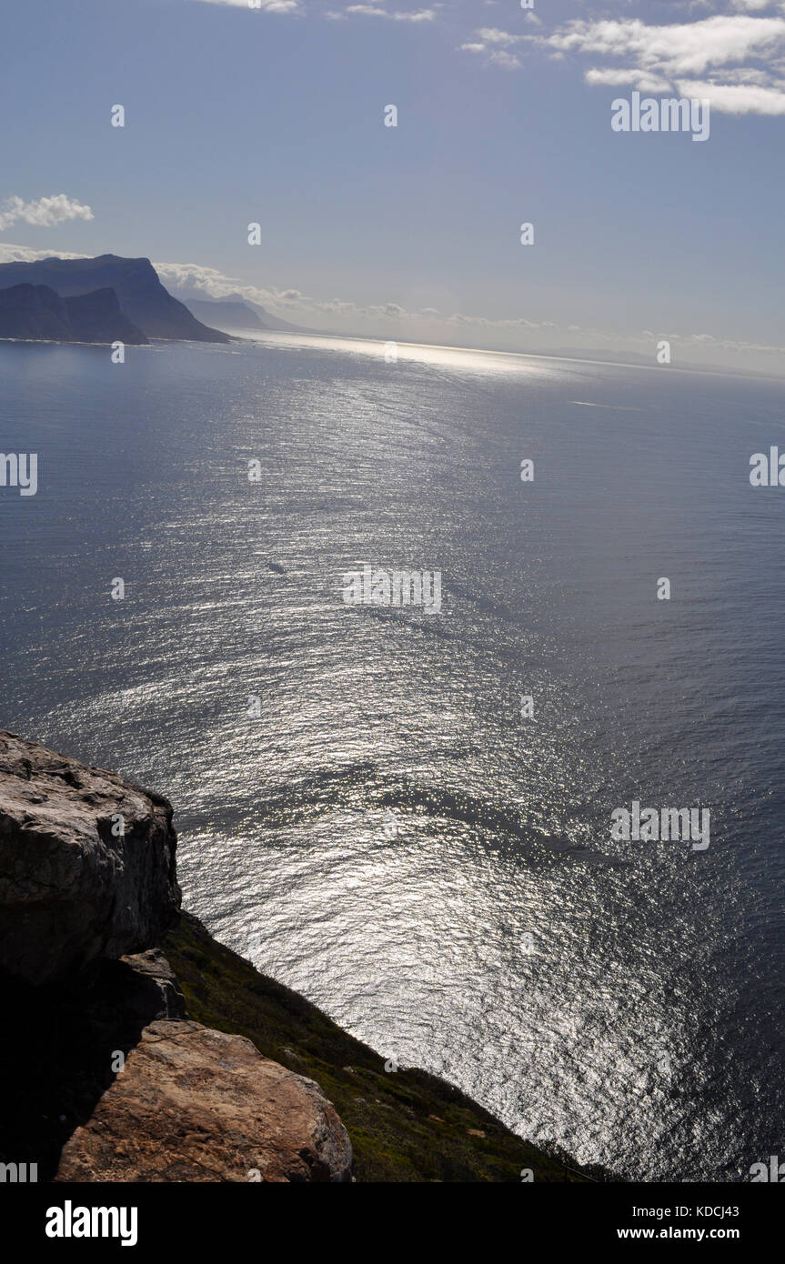 Diaz Beach from Cape Point, The Cape of Good Hope, South Africa Stock Photo
