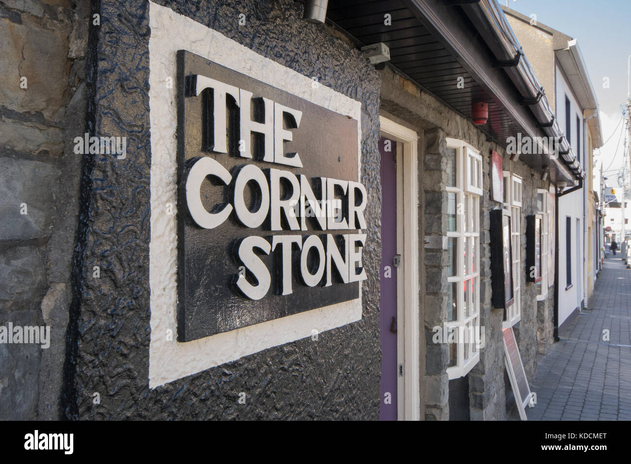 The Corner Stone pub on the main street of Lahinch in county Clare in Ireland - Stock Image