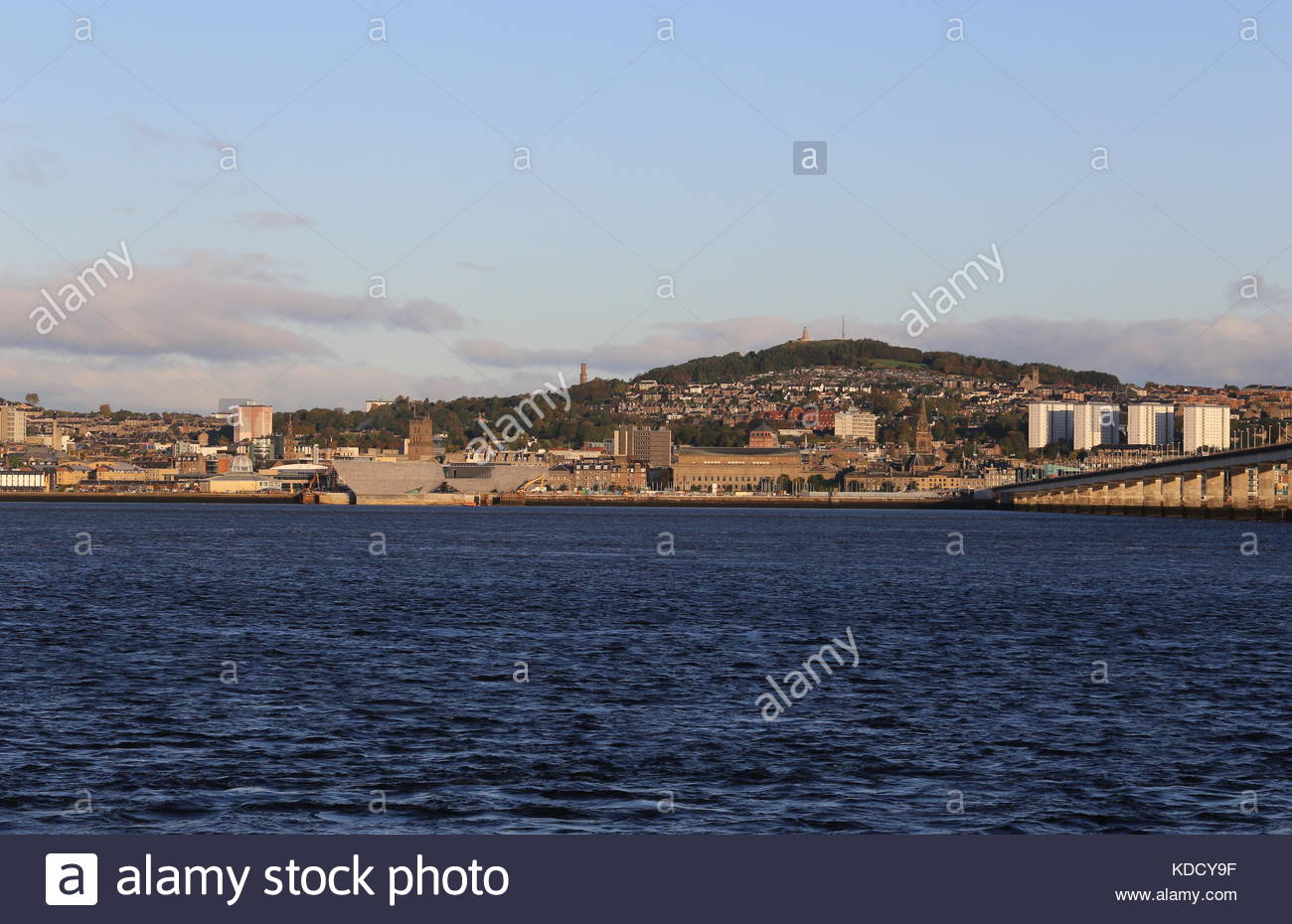 Dundee cityscape Scotland  5th October 2017 - Stock Image