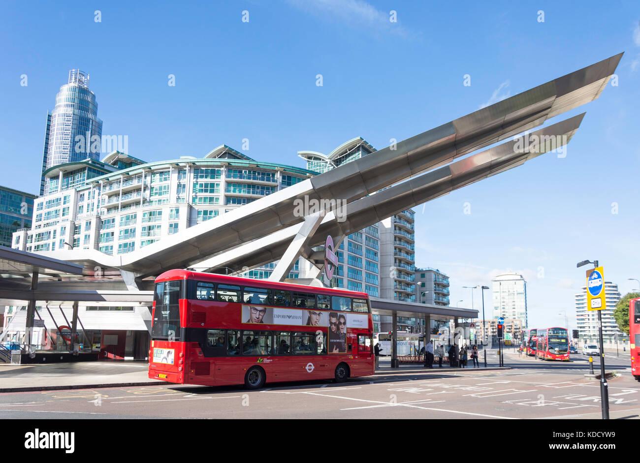 The Vauxhall Cross transport interchange, Vauxhall, London Borough of Lambeth, London, Greater London, England, - Stock Image