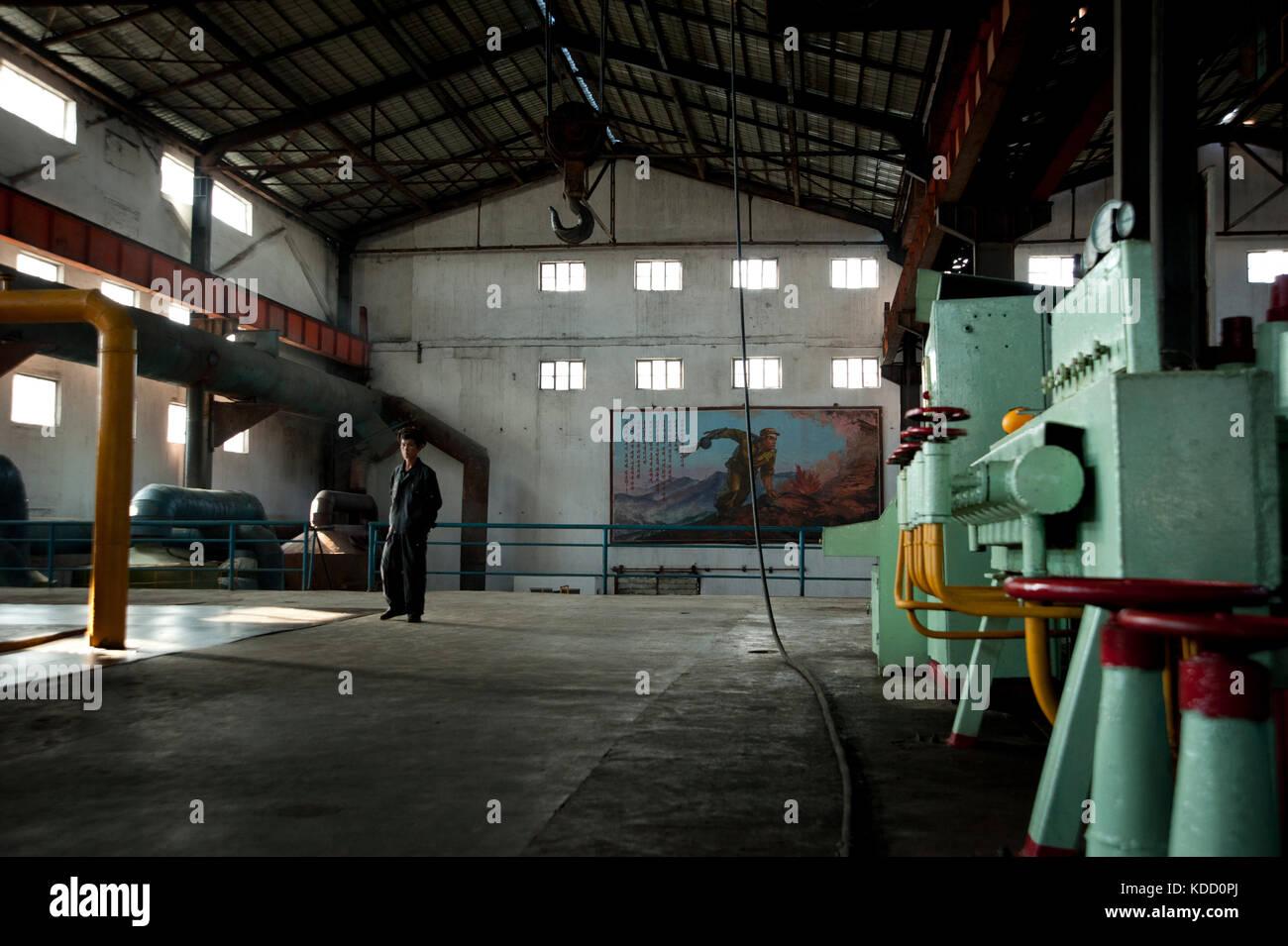 L'usine chimique de Hungnam Fertiliser Complex à Hamhung est le principale site chimique et industrielle de corée Stock Photo