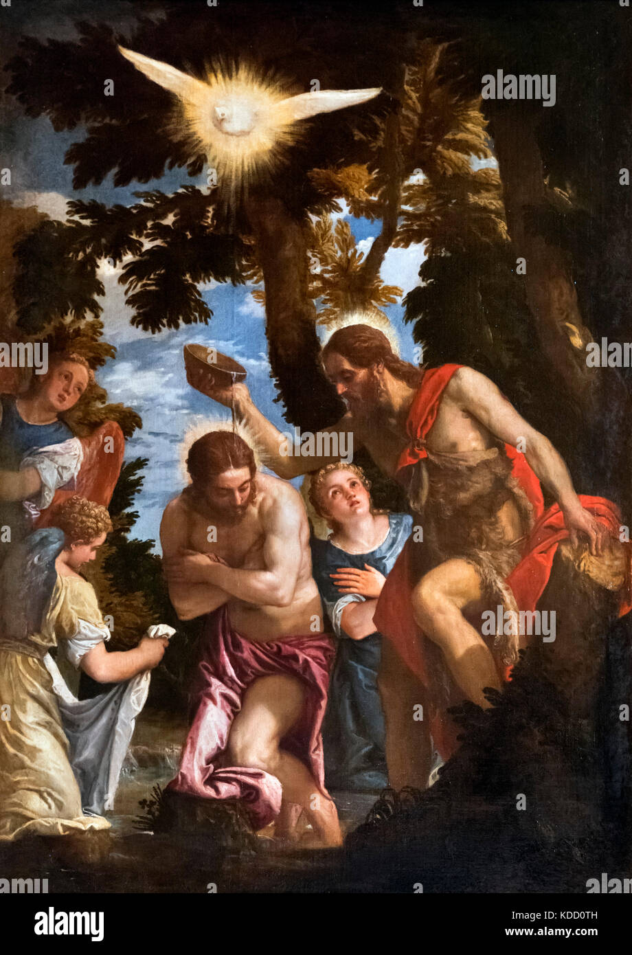 The Baptism of Christ by Paulo Veronese (1528-1588), oil on canvas