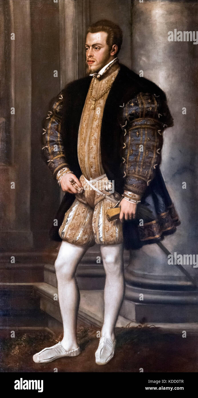 King Philip II of Spain (1527-1598) by Titian, c.1554 - Stock Image