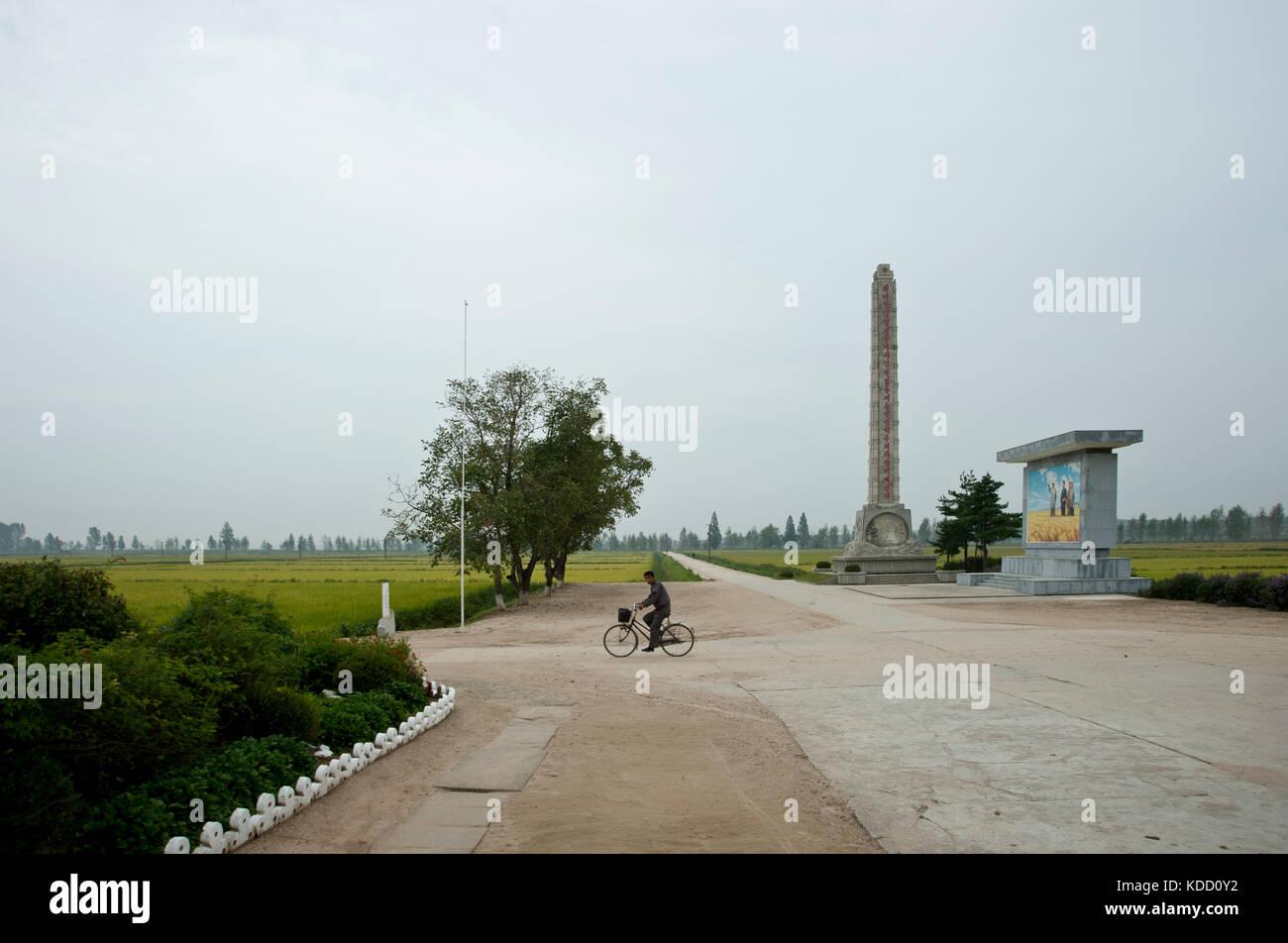 Scène classique de Corée du nord dans un village près de Hamhung le 9 octobre 2012. Classical daily scene in Hamhung Stock Photo