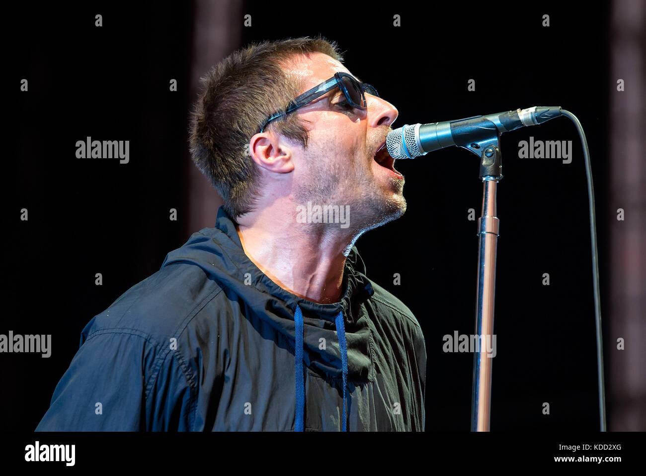 BENICASSIM, SPAIN - JUL 15: Liam Gallagher (musician) performs in concert at FIB Festival on July 15, 2017 in Benicassim, - Stock Image