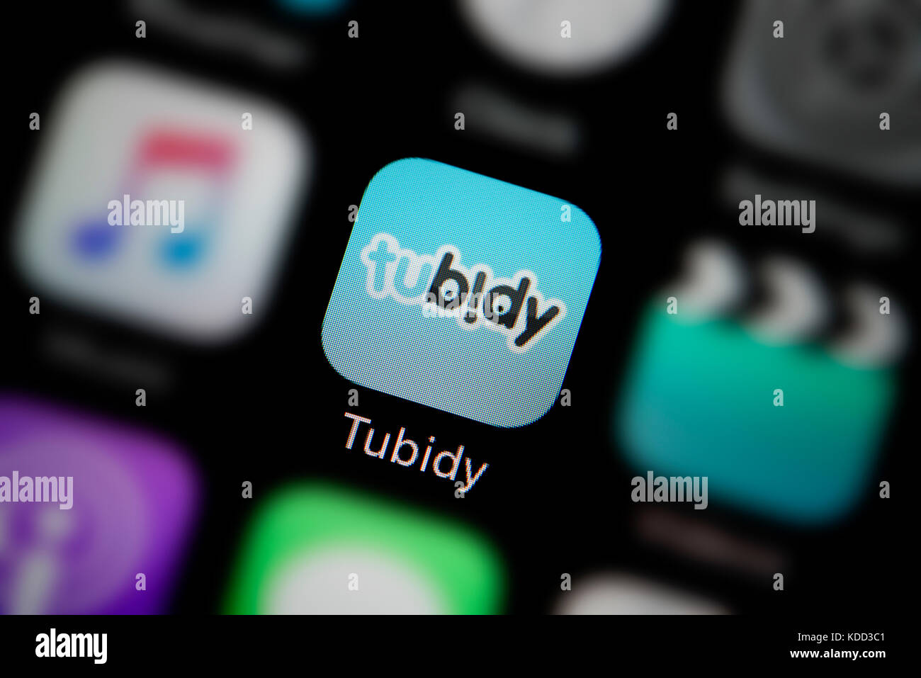 A Close Up Shot Of The Logo Representing Tubidy App Icon As Seen On