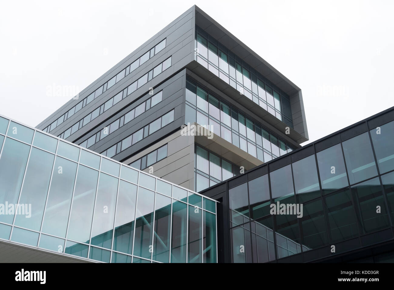 Liverpool Exhibition Centre, Architecture, angular, straight lines, colour - Stock Image