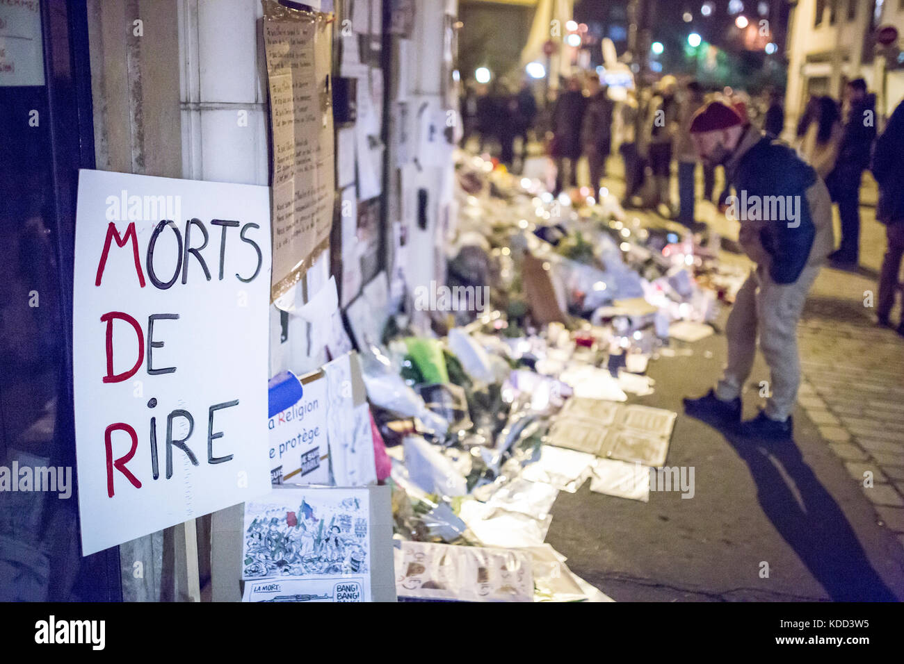 Homage At The Victims Of Charlie Hebdo Killing In Paris The 7th Of Stock Photo Alamy