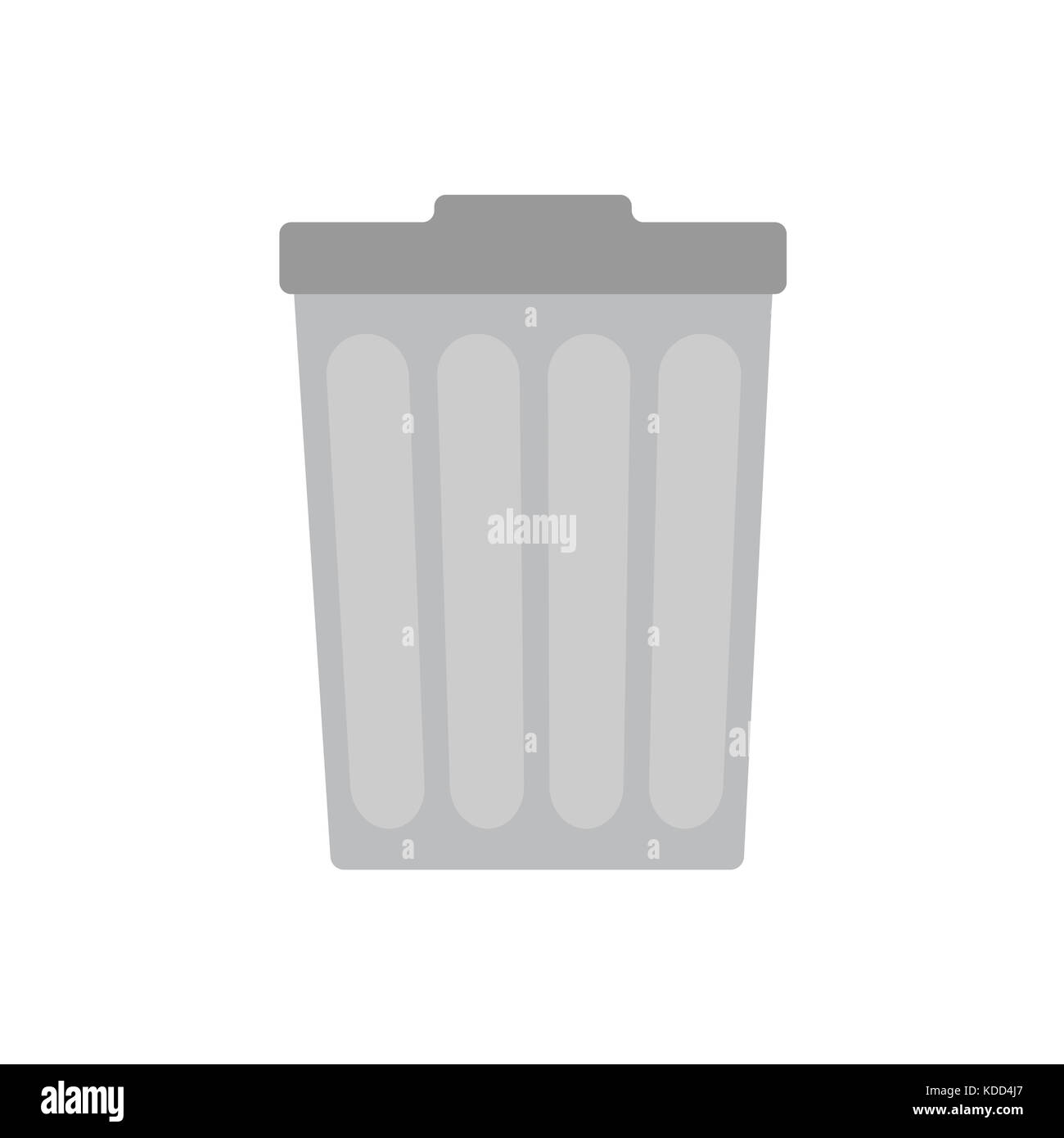 Trash can on white background , vector Stock Photo