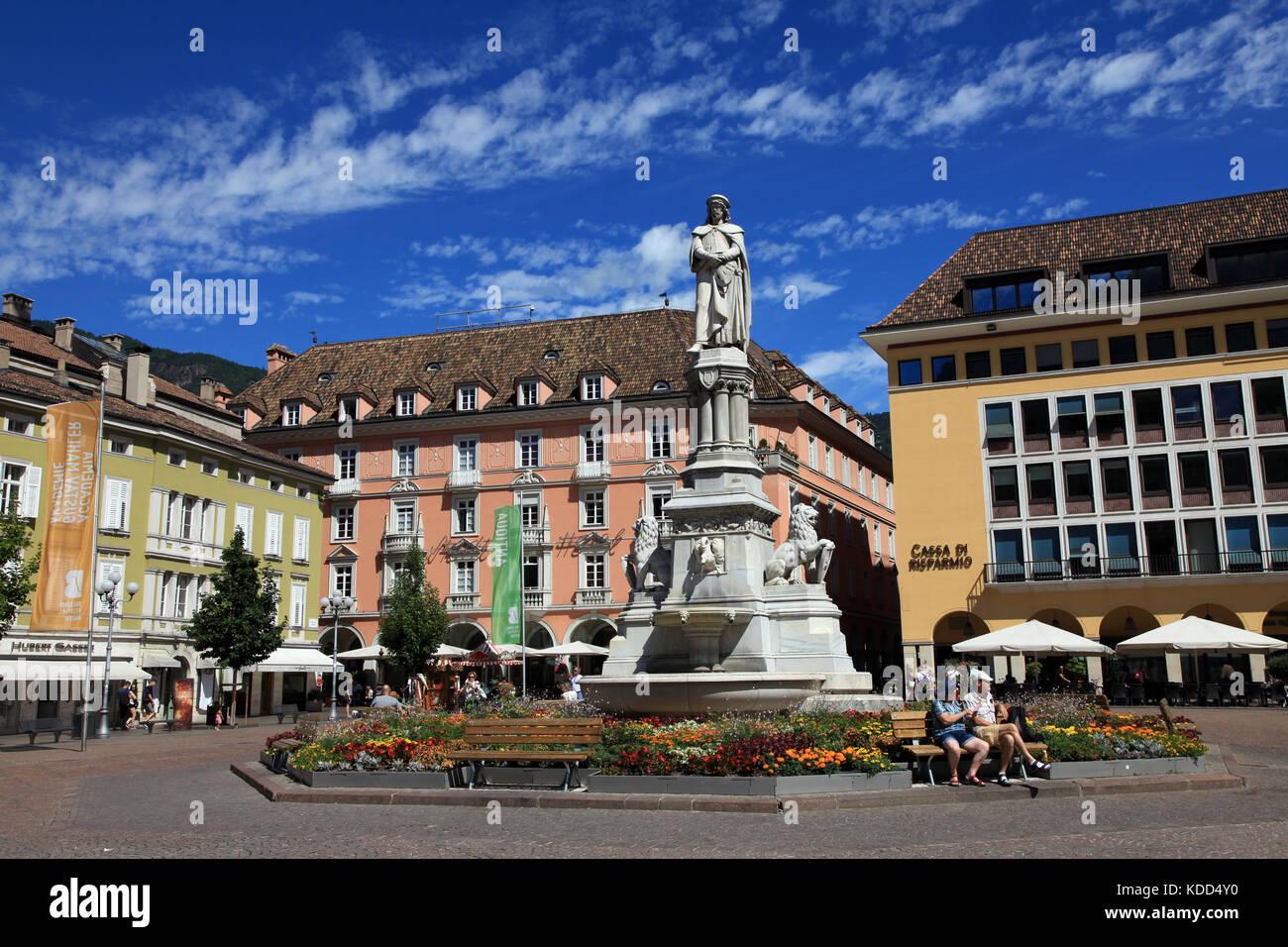 Walther Square, Bolzano, Italy - Stock Image