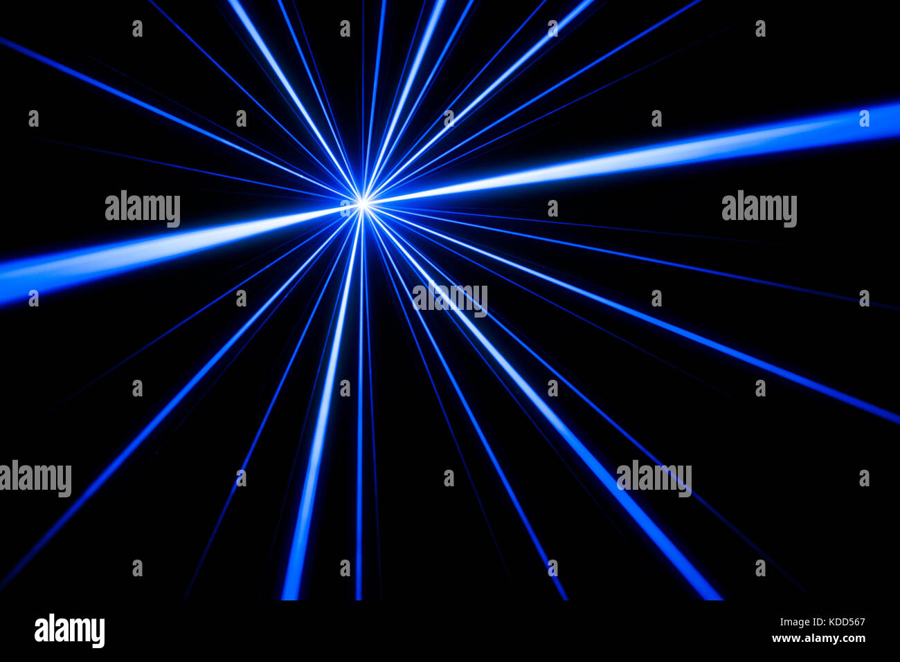 Fancy Club Light Effects In A Dark Background Stock: Blue Laser Beam Light Effect On Black Background, Photo