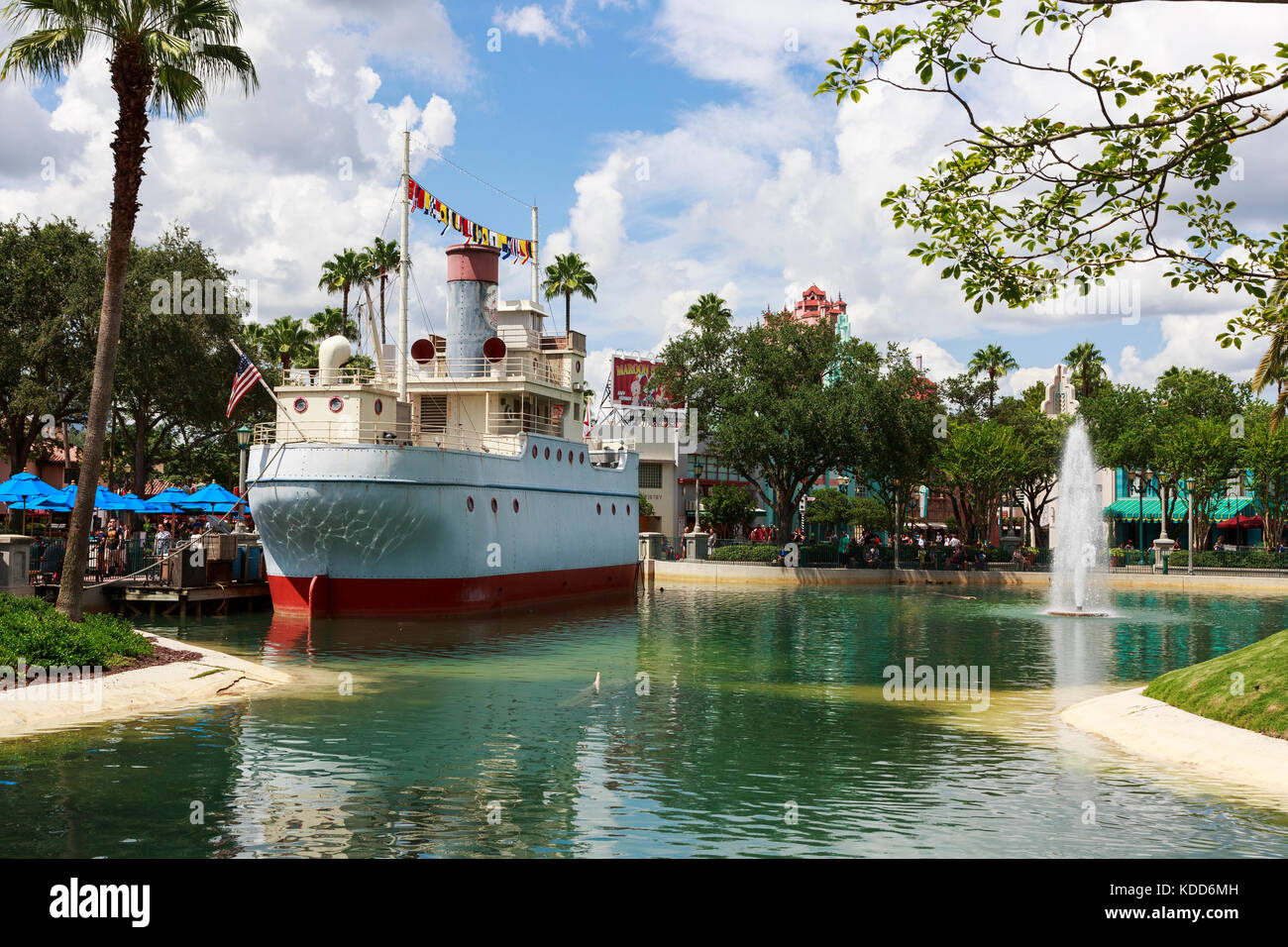 Down the Hatch ship used as a restaurant, Universal Studios, Orlando, Florida,  UK - Stock Image